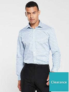 ted-baker-sewelnbspfeather-print-endurance-shirt-blue