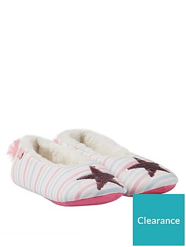 joules-girls-dreama-reversible-sequin-star-slippers-multi
