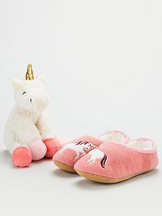 joules-girls-unicorn-slipper-and-toy-gift-set-cream