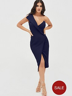 lavish-alice-one-shoulder-wrap-midi-dress-navy