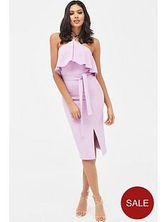 lavish-alice-draped-frill-midi-dress-with-side-split-lilac