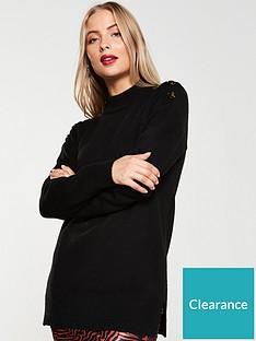 v-by-very-button-shoulder-longline-jumper-black