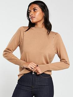 v-by-very-turtleneck-heatseal-stud-jumper-camel