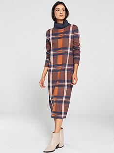 v-by-very-check-roll-neck-midi-dress-multi