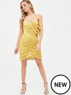 lavish-alice-chevron-fringe-mini-dress-acid-yellow