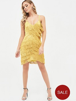lavish-alice-chevron-fringe-mini-dress-acid-yellow