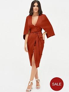 lavish-alice-cape-midi-wrap-dress-dark-rust
