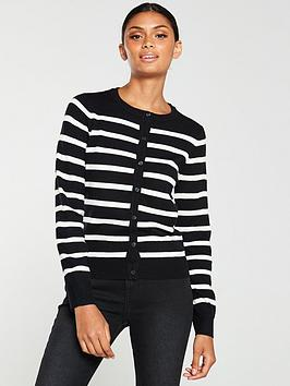 v-by-very-button-front-cardigan-stripe