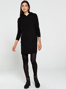 v-by-very-hooded-knitted-dress-black