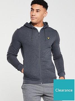 lyle-scott-fitness-hooded-full-zip-midlayer-black-marl