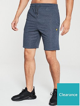 lyle-scott-fitness-fleece-shorts-navy-marl