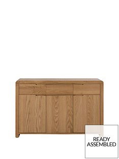 julian-bowen-newman-curve-ready-assembled-solid-oak-and-oak-veneer-sideboard