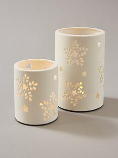 white-filigree-tealight-holders-set-of-2