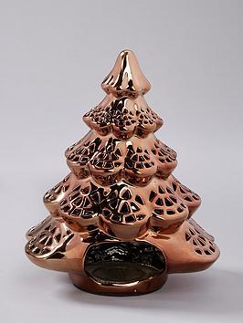 gold-christmas-tree-tealight-holder