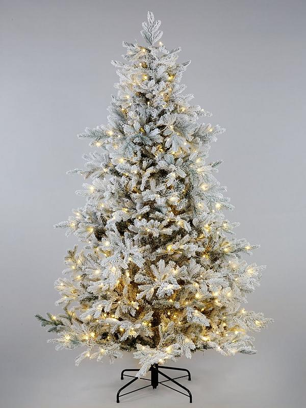 7ft Christmas Tree.Pre Lit Frosted Real Look Bell Shaped Christmas Tree 7ft
