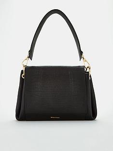 whistles-edison-lizard-leather-shoulder-bag-black