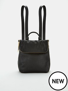 whistles-mini-verity-leather-backpack-black