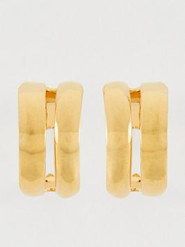 whistles-mini-double-hoop-earrings-gold