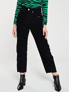 whistles-high-waist-corduroy-barrel-jean-black