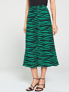 whistles-tiger-print-button-through-skirt-green-multi