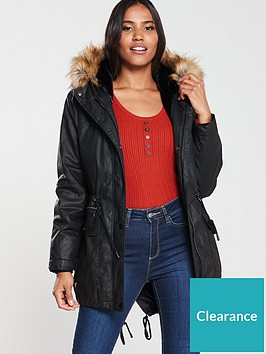 whistles-willow-faux-fur-hooded-waxy-parka-black