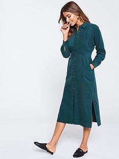 whistles-romaine-cord-shirt-dress-teal