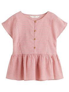 mango-girls-stripe-frill-waist-blouse