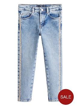 mango-girls-glitter-side-stripe-skinny-jean