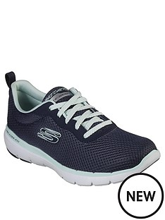 aed515f6488 Skechers Flex Appeal 3.0 First Insight Trainers - Navy