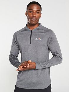 ellesse-sport-janeti-14-zip-top-black