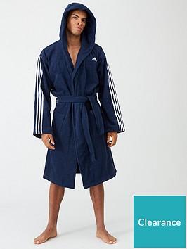 adidas-3-stripe-towelling-robe-navy