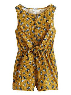 mango-girls-tie-front-printed-playsuit