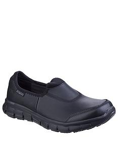 skechers-sure-track-plimsolls-black