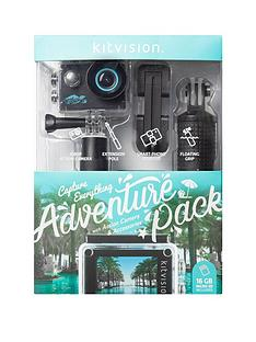 kitvision-holiday-adventure-pack-action-camera-1080p-micro-sd-card-16gb-accessories