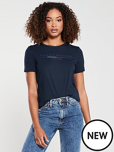tommy-hilfiger-christa-crew-neck-t-shirt-navy