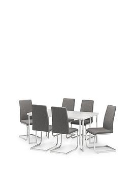 julian-bowen-positano-150-cm-marble-affect-dining-table-6-roma-chairs
