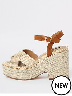 cb9a59fdd5f2 River Island River Island Chunky Wedge Sandals - Neutral