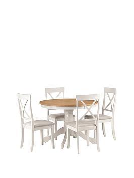 julian-bowen-davenport-106-cm-round-dining-table-4-chairs