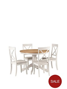 julian-bowen-davenport-160-cm-round-dining-table-4-chairs