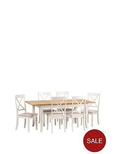 e6f17c0aff Julian Bowen Davenport 150 - 189 cm Extending Dining Table + 6 Chairs