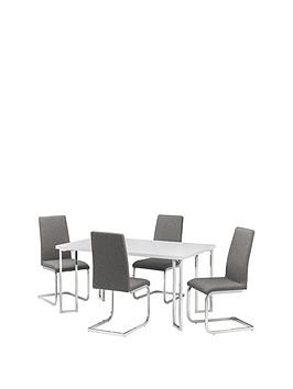 julian-bowen-manhattan-gloss-150-cm-dining-table-4-roma-chairs