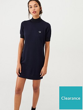 fred-perry-crew-neck-knitted-dress-charcoal