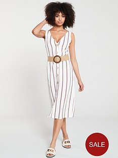 river-island-river-island-stripe-button-detail-dress--white