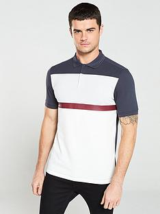 fred-perry-panelled-pique-polo-shirt-graphitewhitelight-grey