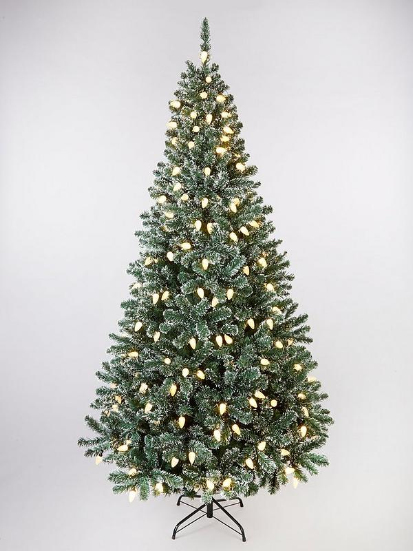 Pre Lit Snow Tipped Christmas Tree 7ft