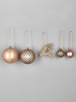 50pc-luxe-bauble-set--nbspchampagnerose-gold