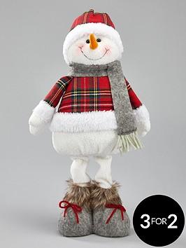 tartan-standing-snowman-christmas-decoration