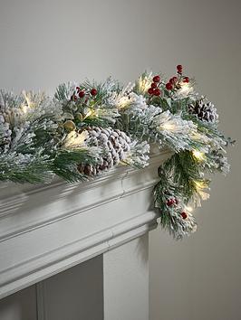 bavarian-pre-lit-christmas-garland-ndash-180-cm