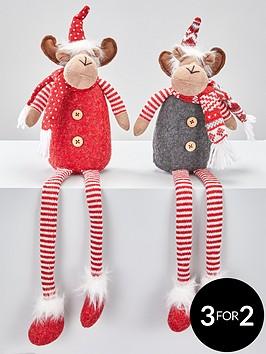 set-of-2-dangly-leg-reindeer-christmas-decorations