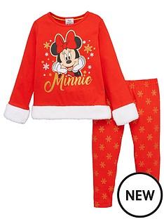minnie-mouse-girls-christmas-pyjamas-red